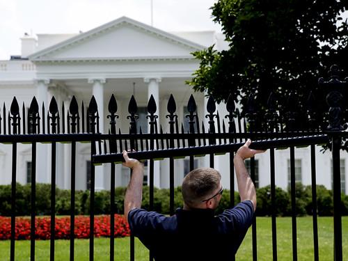 Білий дім забор