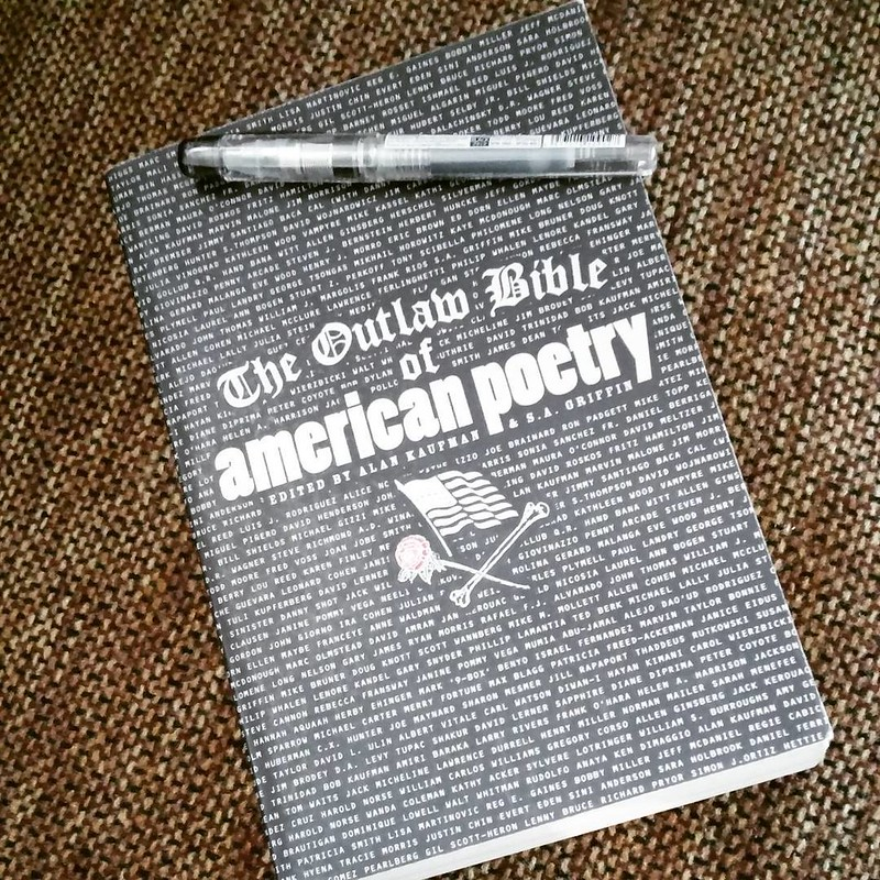"""The Outlaw Bible of American Poetry"" and Platinum Preppy  #books #fountainpen"