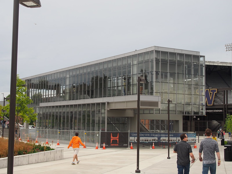 University of Washington Station: Under construction for University Link.