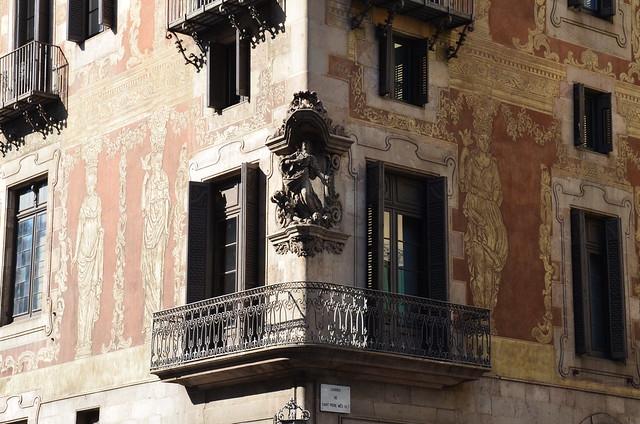 Sun and shadow, Via Laietana, Barcelona.