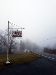 Quaker Gap Country Store.  https://wanderingwondorium.wordpress.com/2017/01/12/the-store/?preview=true  #winter #morning #fog #snow #QuakerGap #rural #abandoned #sign