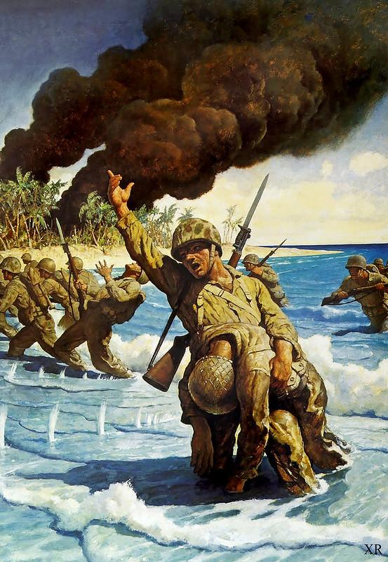 """1944 ... """"Corpsman!"""" NC Weyth"""