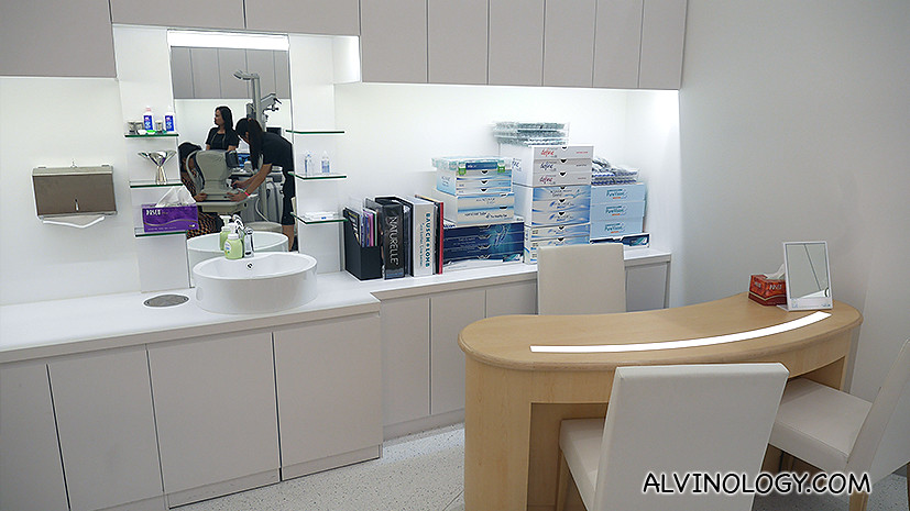 Sink for washing and consultation table