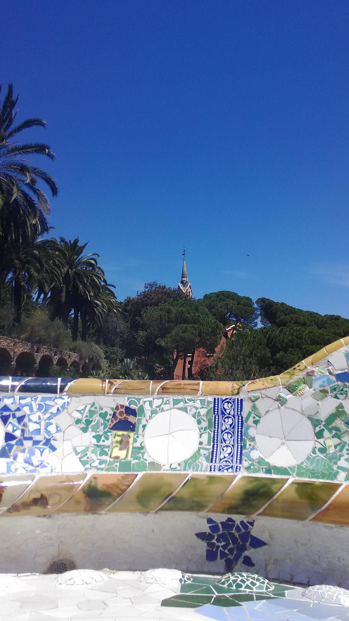 Park Güell - Museo Gaudí visto da Piazza della Natura