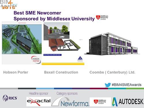 Shortlisted Best SME Newcomer BIM4SMEAwards