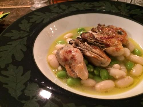 牡蠣ソテーと白いんげん豆の煮込み@ペルラヴィータ 十号坂