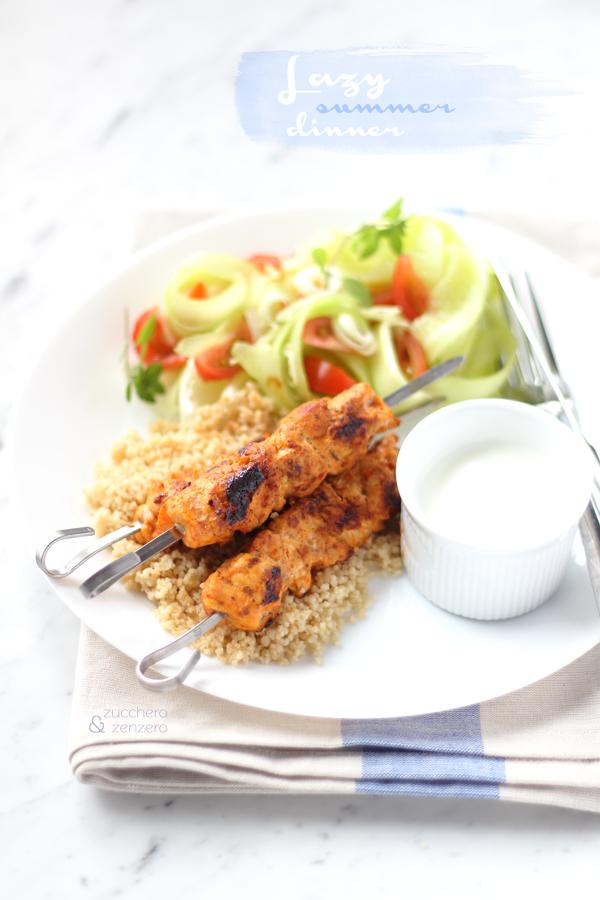 Spiedini di pollo alla marocchina