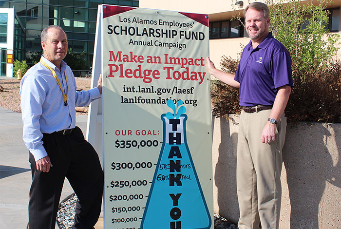 New record-breaking total for the Los Alamos Employees' Scholarship Fund.