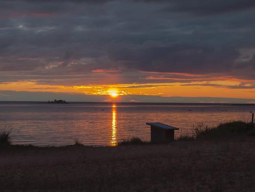sunset sky finland landscape seaside shore kalajoki hiekkasärkät