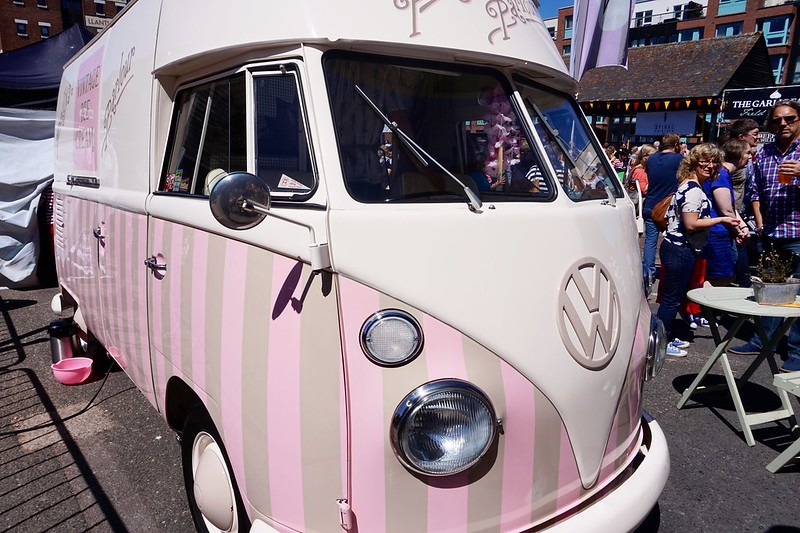 vw camper vw camper ice cream van gloucester food festival quays