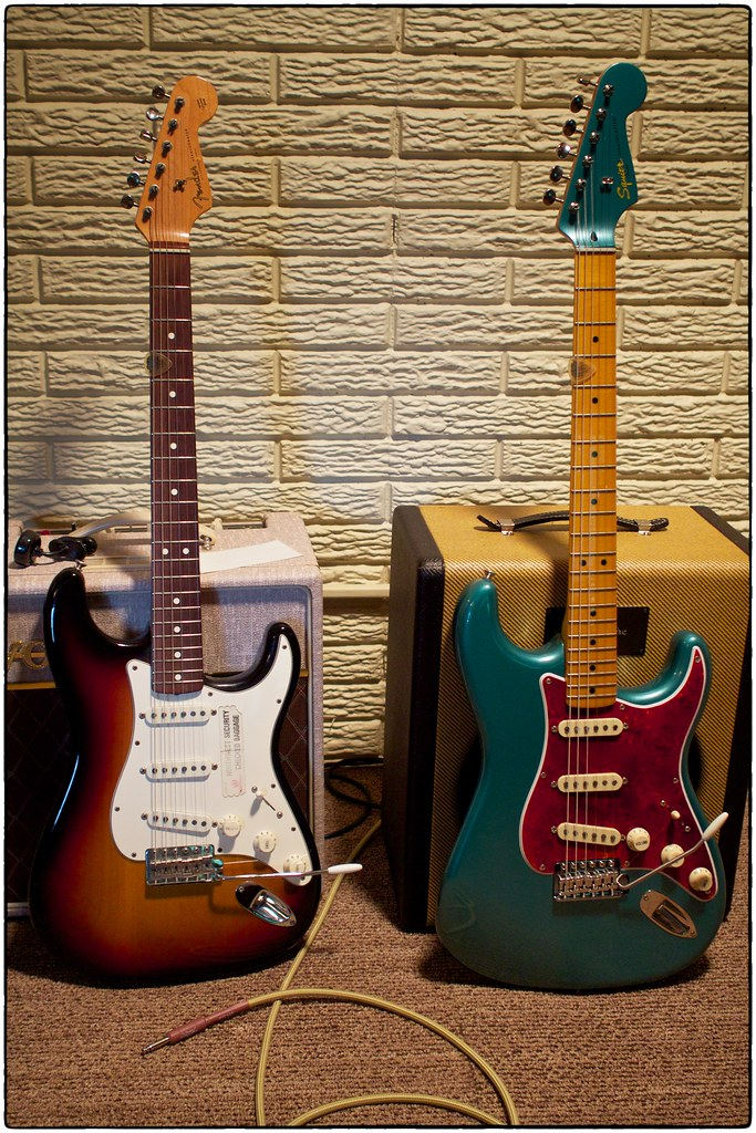 Two Stratocasters, July 06, 2015