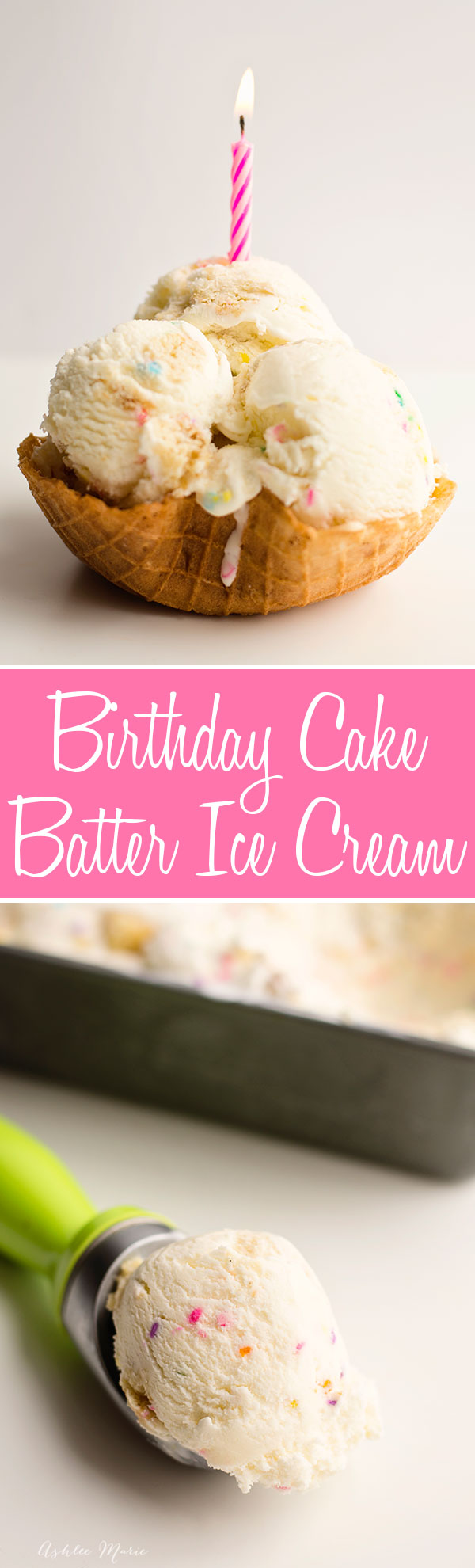 one of my favorite ice cream flavors is cake batter ice cream, made with dry cake mix and mixed with pieces of white cake and sprinkles it is always a hit