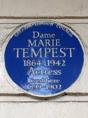 Photo of Marie Tempest blue plaque