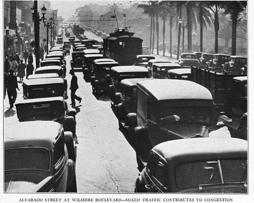 "Alvarado at Whilshire ""mixed traffic causes congestion"""