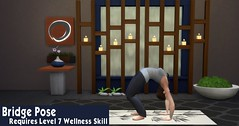 Sims 4 Spa Day Yoga 11 Bridge Pose