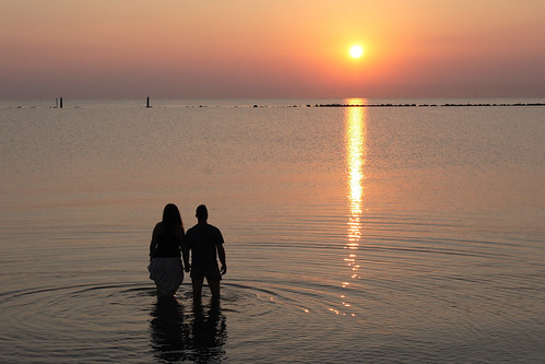 sea silhouette sunrise mare alba doc coppia adriatico cesenatico