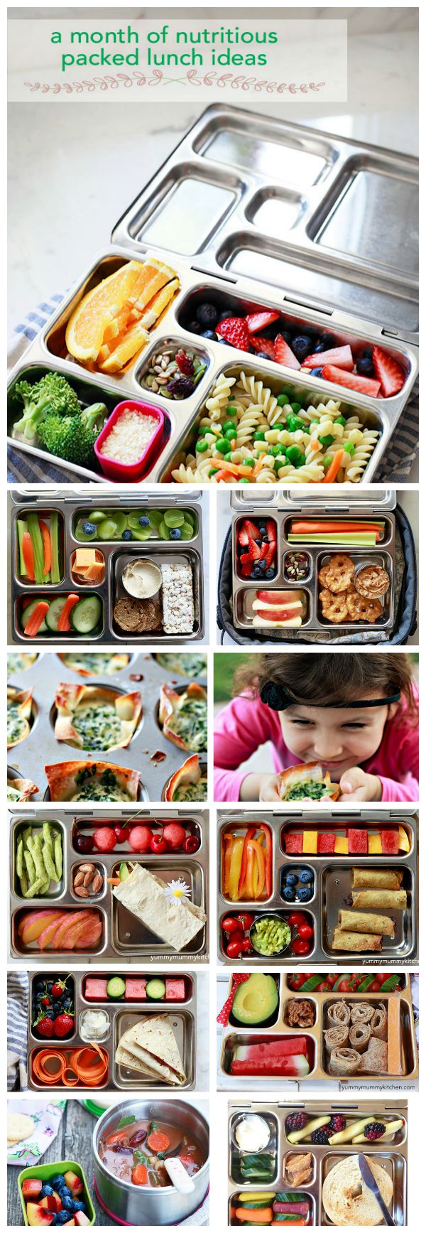 Healthy vegetarian kids Lunchbox Ideas on YummyMummyKitchen.com