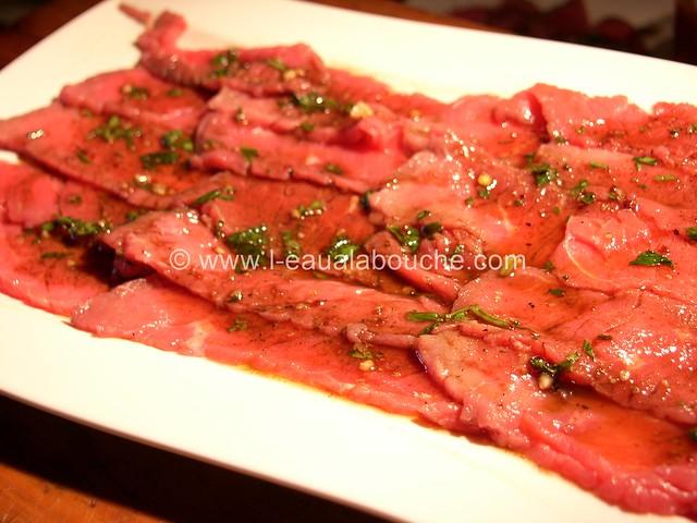 Carpaccio de Boeuf Gaspacho Mozzarella Basilic  © Ana Luthi Tous droits réservés 19