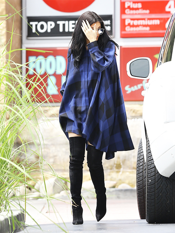 Kylie Jenner out stopping by a gas station on Thursday, August 06 in Los Angeles, California