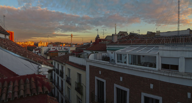 Madrid at sunset, POV Calle Moratin; Barrio de Las Letras (2016)