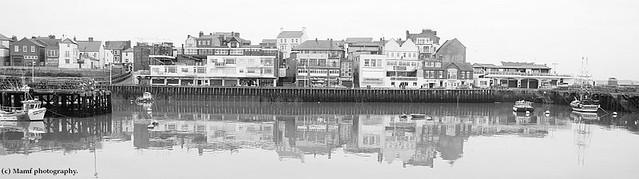 Building reflections  in Bridlington harbour.