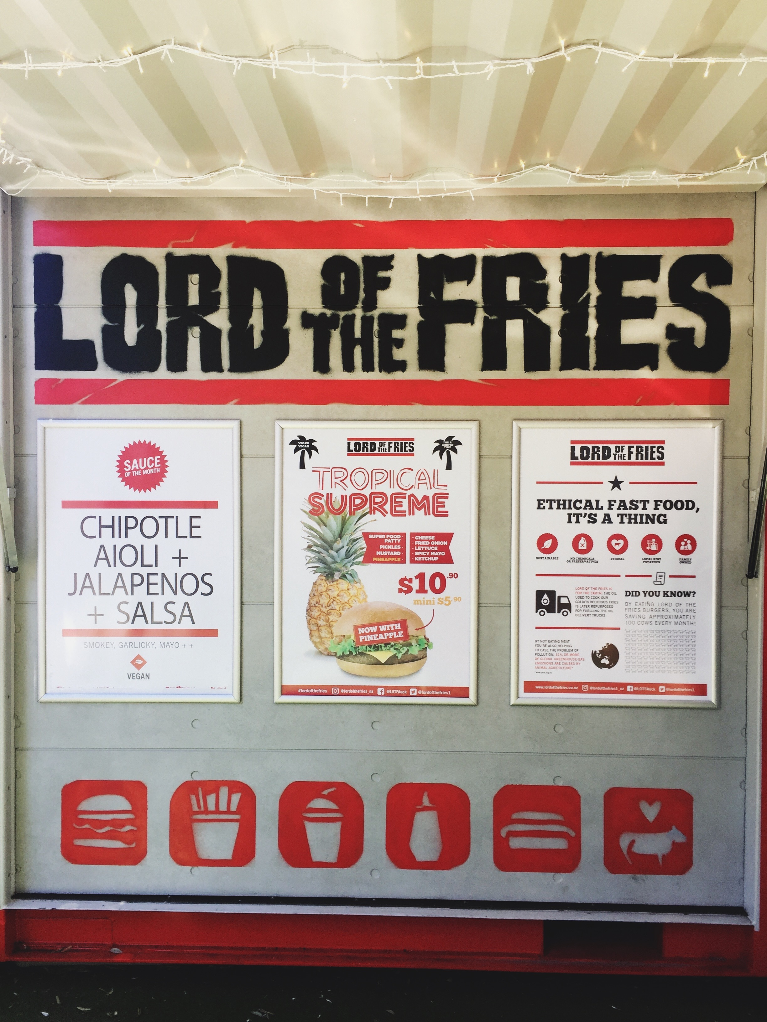 Lunch at Lord of the Fries in Auckland