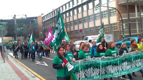 Manifestación hoy por la tarde