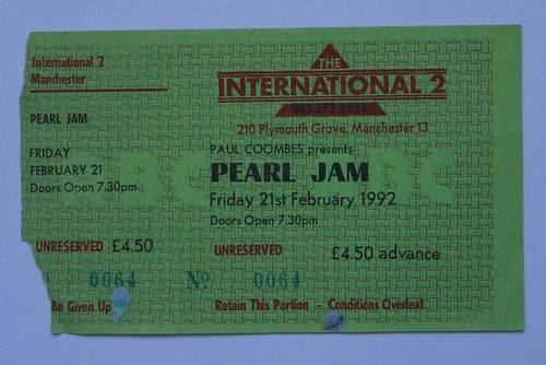 PEARL JAM TOUR UK