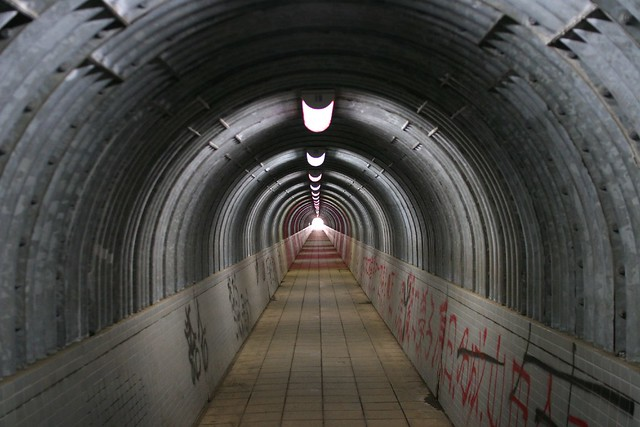 Tunel en Yokohama. Japón.