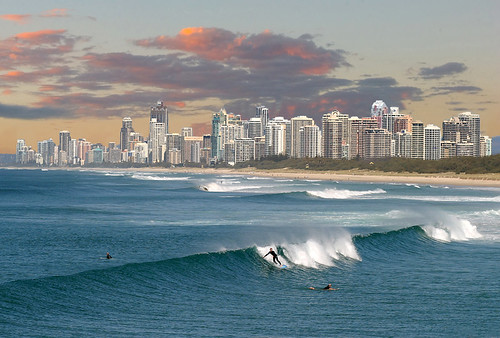 Sunset over Surfers Paradise=