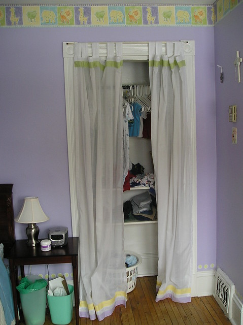 closet with curtain | In the amusement hours between 5 and 8 ...
