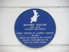 Photo of Beatrix Potter blue plaque