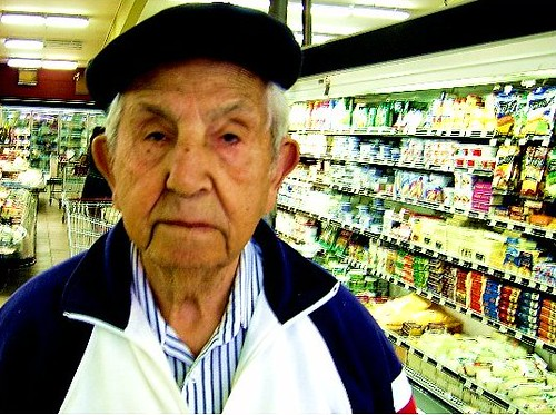 Old man in the grocery store flickr photo sharing