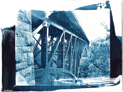 bridge michigan geotag cyanotype altprocess cutriver