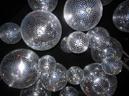 disco ball chandelier @ Betty, Chungdamdong