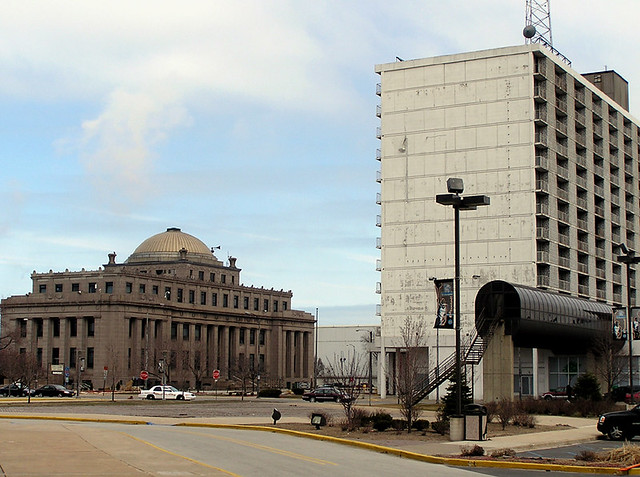 City Hall and former Sheraton Hotel
