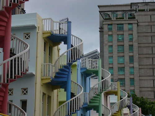 Colourful staircases