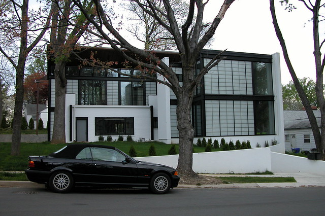 Weird Modern House in Bethesda - Front View