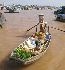 Floating Market On Lake