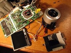 A 'boned' coloured camera