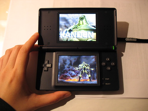 DS Lite with Metroid Prime: Hunters