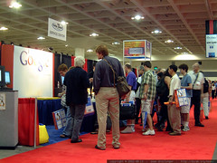 intense interest in and around the google booth   ds…