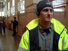 sean on the alcatraz audio tour   dscf3857