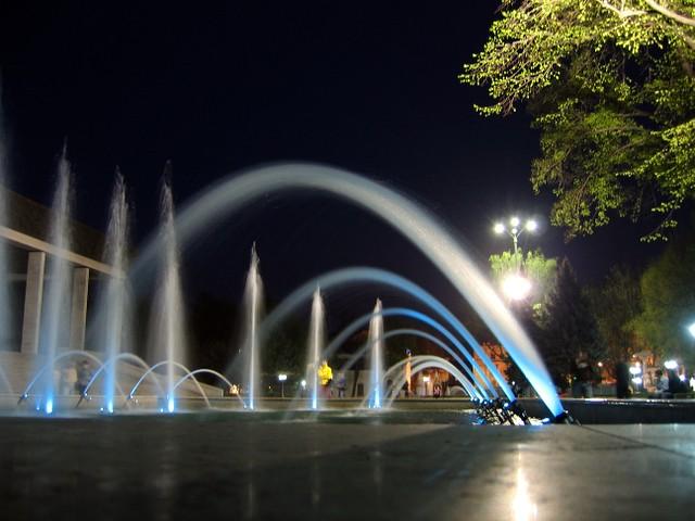 Fountain at Opera. Chisinau, Moldova
