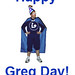 Libraryman Celebrates Greg Day