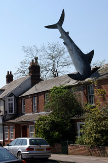 Yes - it's a shark in the roof.
