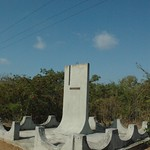 Memorial for soldier fallen during Bay of the Pigs invasion. Between Playa Larga and Playa Giron