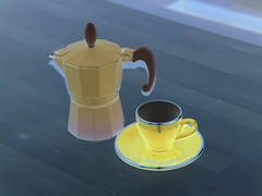 drink(0.0), ceramic(0.0), yellow(1.0), cup(1.0), coffee cup(1.0), teapot(1.0),