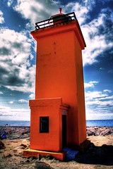 Orange lighthouse ...