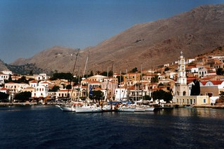 Halki town and harbour